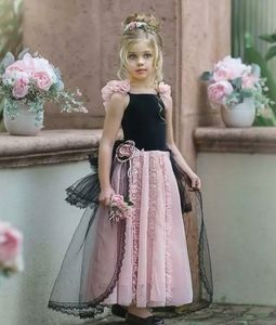 Dollcake Autumn frock dress gown 5T 5 10pink black